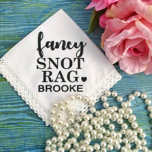 Fancy Snot Rag handkerchief, Funny handkerchief, Funny verse Handkerchief