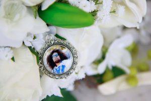 Memory Charm, Step Dad Wedding Keepsake, in memory of charm,