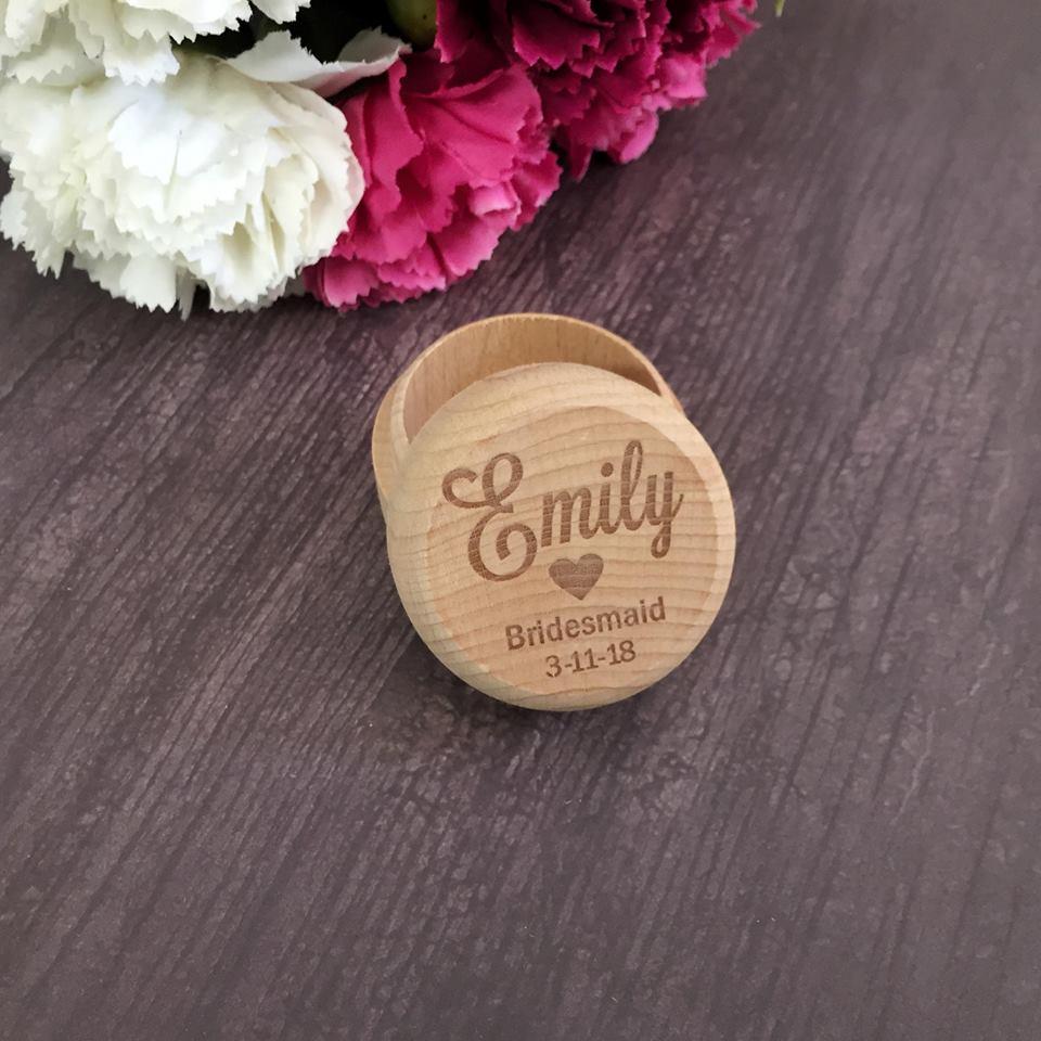 Bridesmaid Ring Box Personalised Bridal Party Gift