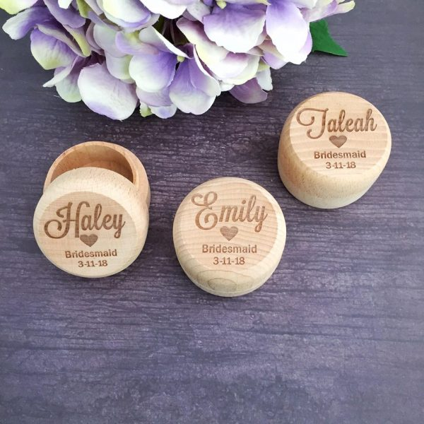 Ring Box gift for Bridal Party, Personalised Bridal Party Gift,