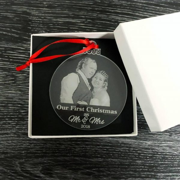 Christmas Gift for Husband from Bride, Mr & Mrs Xmas gift, Our First Christmas Ornament