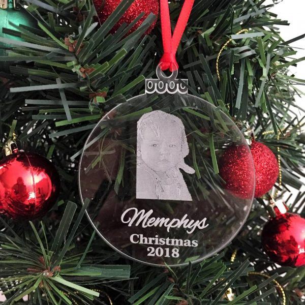 personalised Christmas bauble, Baby's First Christmas Gift, Personalised Christmas Ornament for Baby