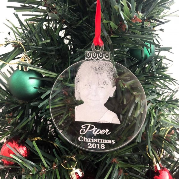 Childrens personalised Christmas Ornament, Christmas hanging Ornament with photo, custom made Christmas bauble