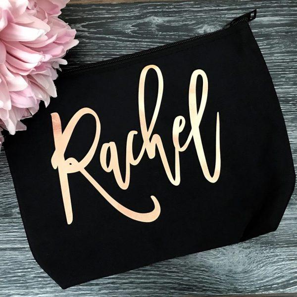 make up bag, personalised makeup bag, custom name makeup bag, best friend gift, gift for girl