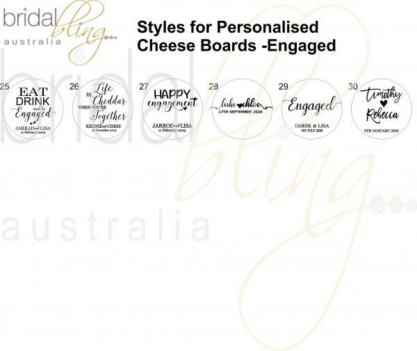 Bridal Bling Australia Engagement Cheese Boards