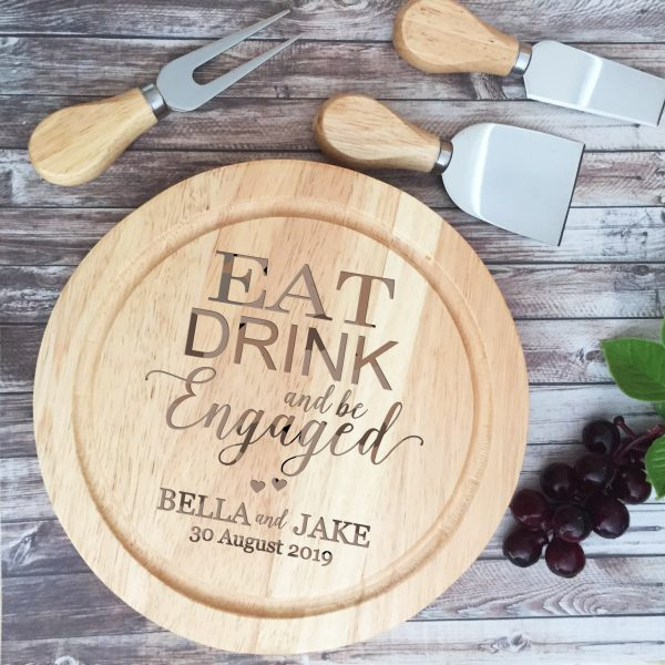Personalised Engagement Present, Custom Couple Engagement Gift, Gift for Engaged couple, Custom Cheese board