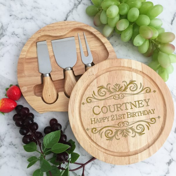 personalised cheese board and knife set australia