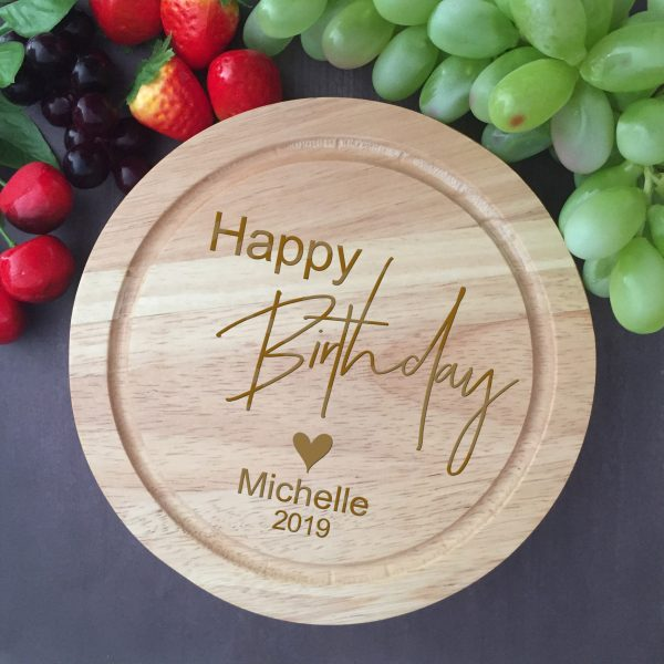 personalised birthday present idea for men, birthday present idea for her, personalised chopping board Australia