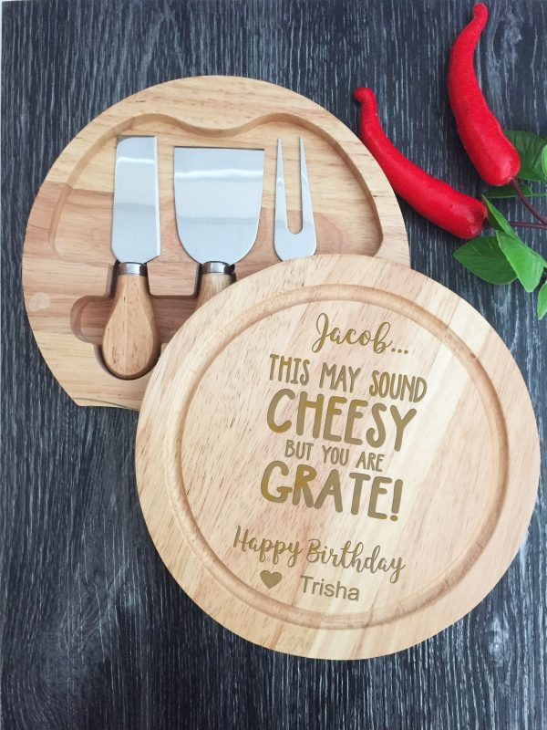 Personalised Birthday Gifts & Presents for Men and Women, Custom Cheese Board Set Australia