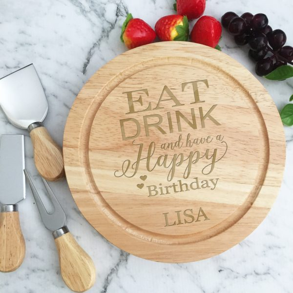 Eat Drink and be happy gift, Happy birthday gift, Birthday gift for cheese lover