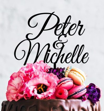 Personalised Name Cake Topper for Wedding, personalised name cake toppers, Engagement Cake Topper, Cake topper for Twins