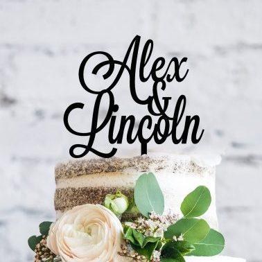 personalised wedding cake toppers au, Couple Names Engagement Cake Topper, Cake Topper for Wedding Cake,