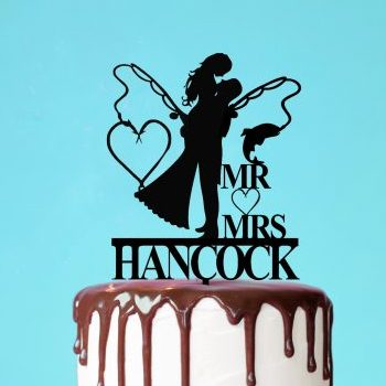 funny wedding cake toppers, Custom Fishing Cake Topper, Fishing cake toppers for Wedding