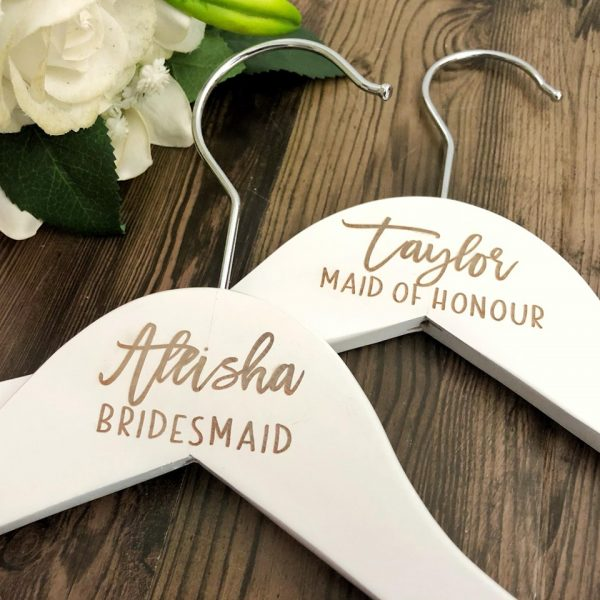 wedding Clothers Hangers, Bridal party gifts on Afterpay, Bridesmaid Gift Idea on Afterpay, Engraved Wedding Hangers