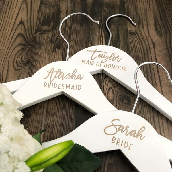 wooden coat hangers, bridal hangers, engraved coat hangers, bridesmaid hangers, bridesmaid gifts on afterpay