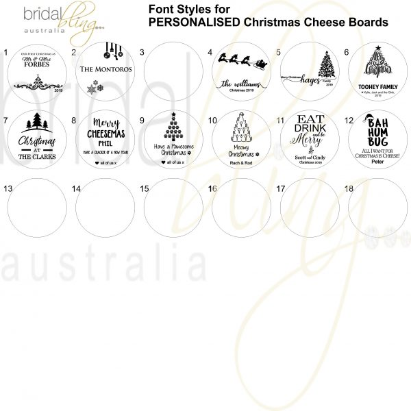 Christmas Gift Personalised Cutting Board, Personalised Xmas Cheese Board Australia