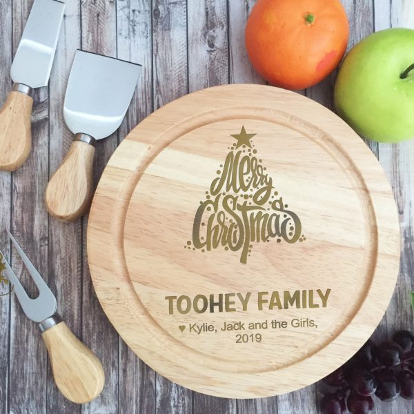 Custom Christmas Gift, Personalised Cutting Board Xmas Gift,