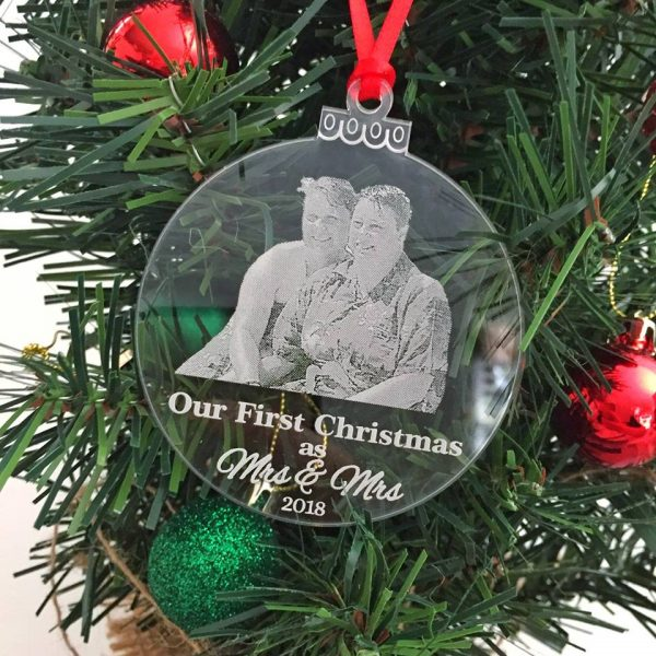 Gift for Gay Couple, Married Couple Gift, Gay Couple Christmas Gift, Gay Pride Christmas Bauble