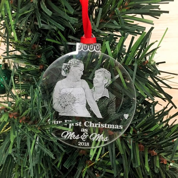 Same Sex Christmas Ornament, Christmas Gift for Lesbians, LGBT Christmas Bauble
