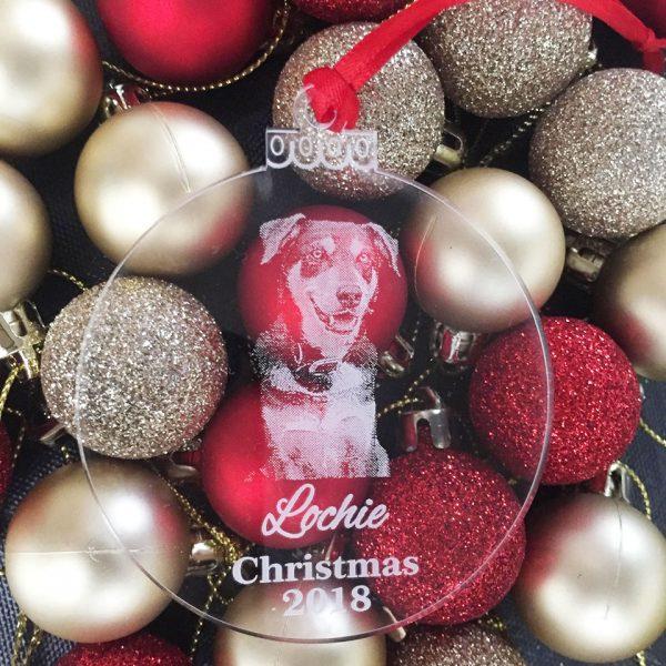 Custom Pet Ornament, Dog Christmas Ornament Gift, Christmas Gift for Dog Lover