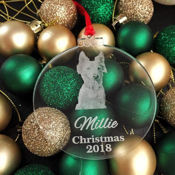 Dog Christmas Bauble, Cat Xmas Ornament, Personalised Gift for Dog Mum