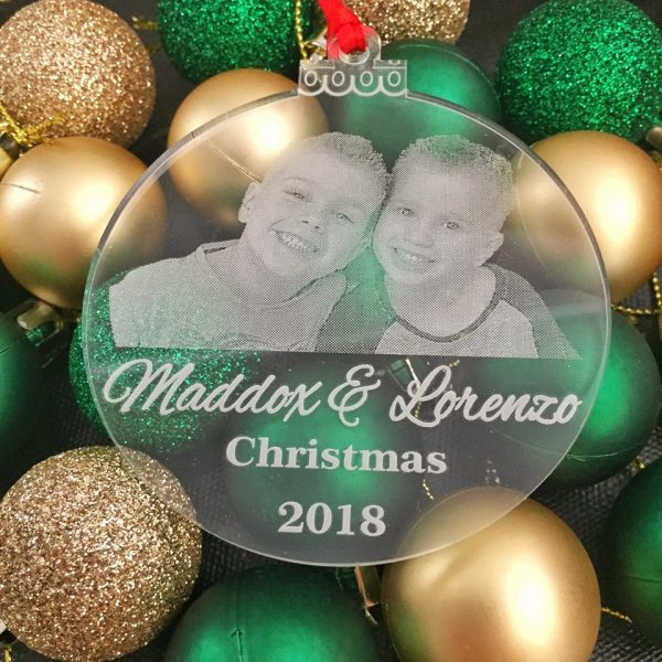Personalised Children Christmas baubles, Personalised Photo Bauble for Christmas