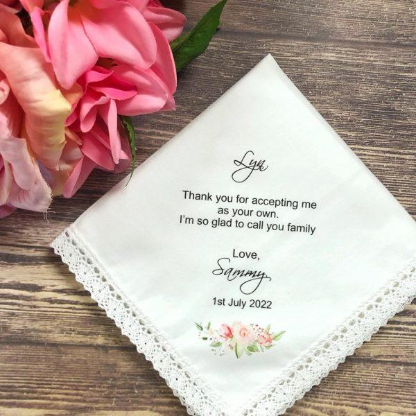 Printed wedding Handkerchief, Printed Personalised Handkerchief for Wedding