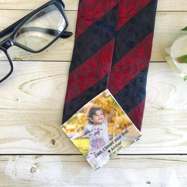 Wedding Gift for Dad, Father of the Groom Gift, Photo Tie Patch,