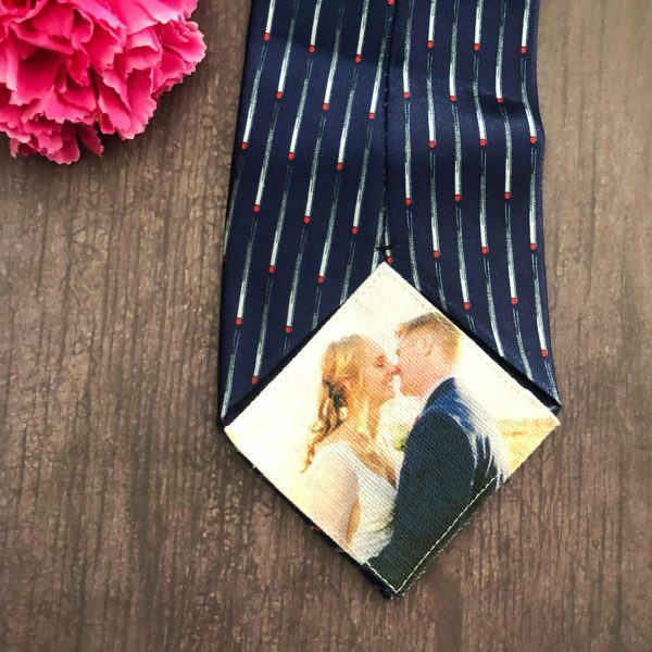 cotton Anniversary Gift for Husband, Hidden Tie Patch for new husband, Tie Label for husband