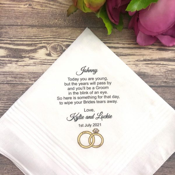 Gift for Ring Bearer from Mum and Dad, Wedding Handkerchief for Kids, Kids Wedding Hankie