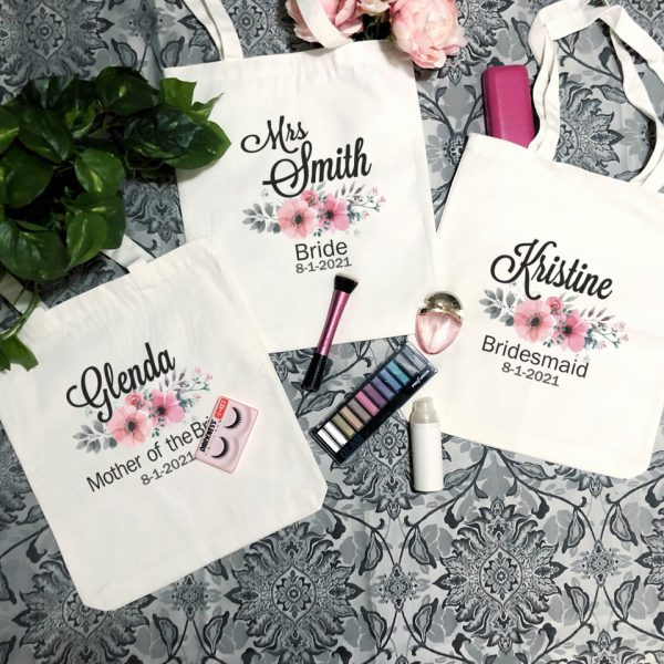 Personalised Bridesmaid Gift Idea, Tote Bags for Bridal Party, Personalised Wedding Gifts Australia