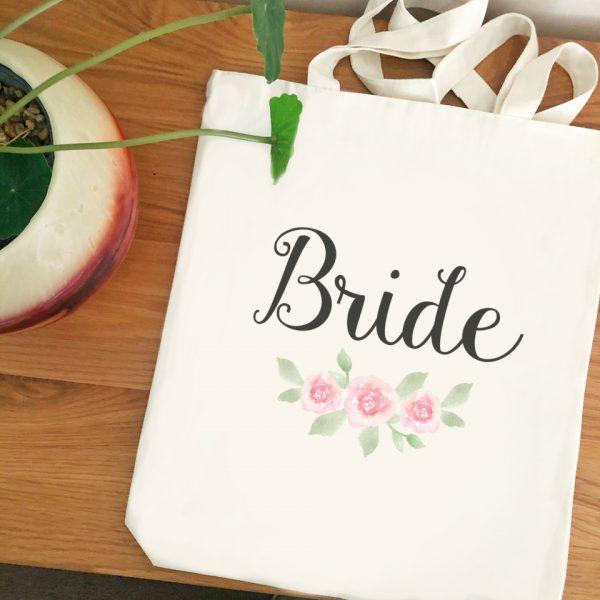 Bride Tote BAg, Tote Bag for Bride, Wedding Day Bag for Bride, Custom Tote Bags Australia