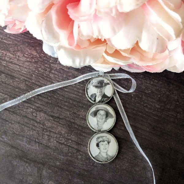 bridal bouquet memorial, memory charms for wedding bouquetphoto charm, handmade bridal charms with photos,