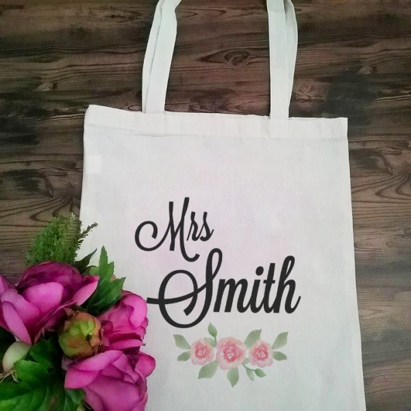Wedding Gift for Bride, Wedding Day Tote Bag for Bride, Custom Tote Bags Australia