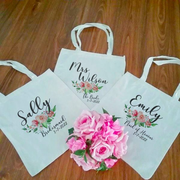 Bridal Party Tote Bags, Wedding Gift for Bridesmaids, Wedding Tote Bags Australia