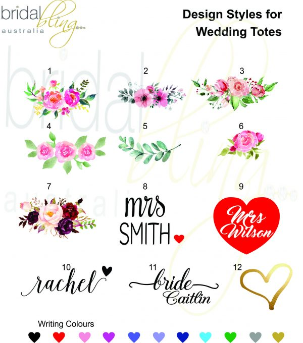 Bridal Bling Australia Tote Designs