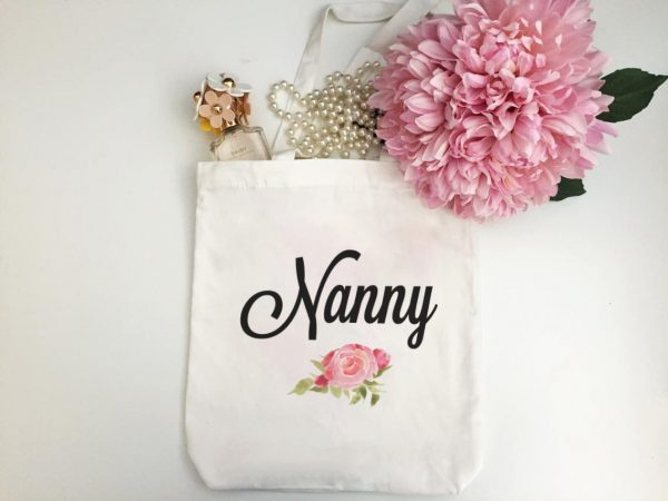 Gift for Nanny, Tote Bag for Grandmother, Personalised Tote Bag for Grandmother