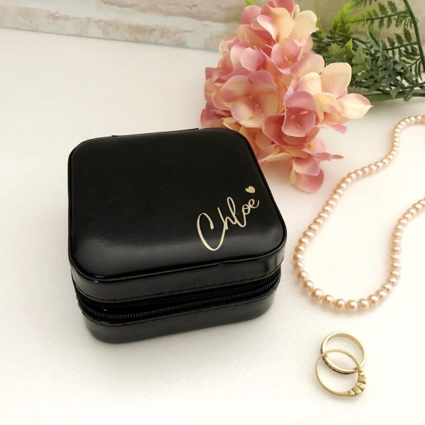 Personalised Travel Jewellery Case Australia, Travel Case for Jewellery,