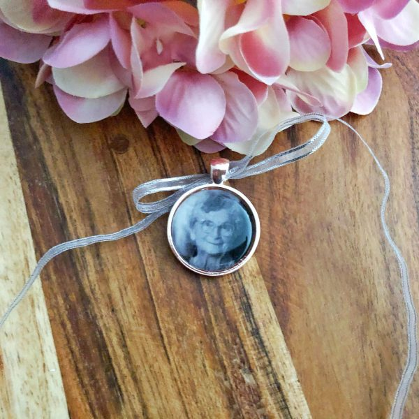 Rose Gold Wedding Bouquet Photo Memory Charm Bridal, Memory Charm of Nana